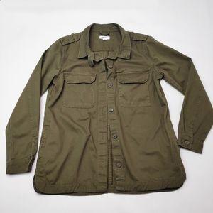 Garage Olive Green Utility Jacket Button Up Size M